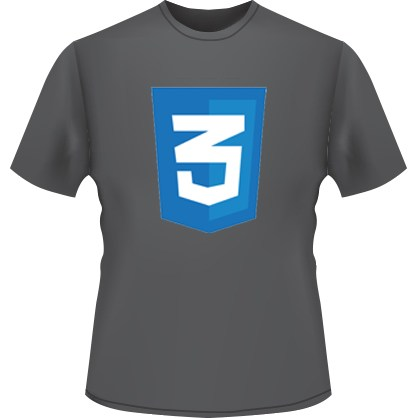 CSS3 Icon T-Shirt (Black)