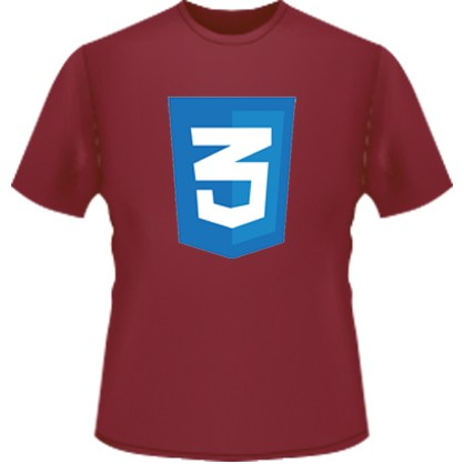 CSS3 Icon T-Shirt (Red)