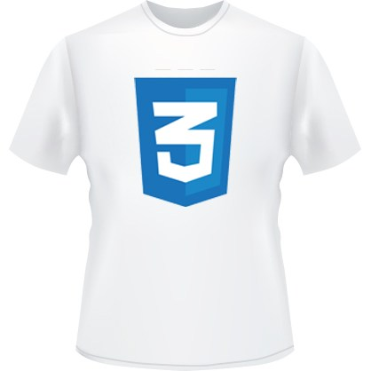 CSS3 Icon T-Shirt (White)
