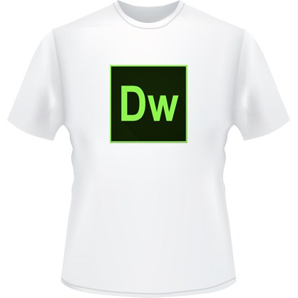 Dreamweaver Icon T-Shirt (White)