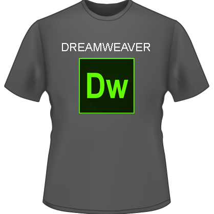 Dreamweaver Logo T-Shirt (Black)