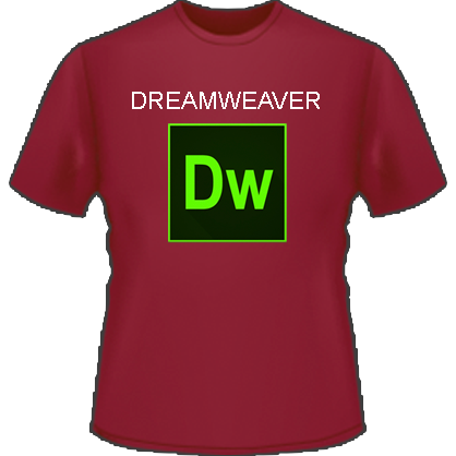 Dreamweaver Logo T-Shirt (Red)