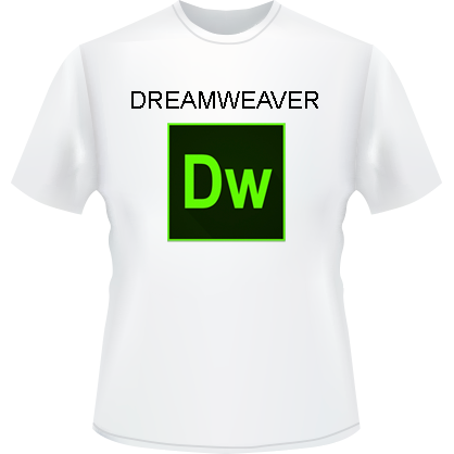 Dreamweaver Logo T-Shirt (White)