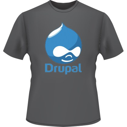 Drupal Logo T-Shirt (Black)
