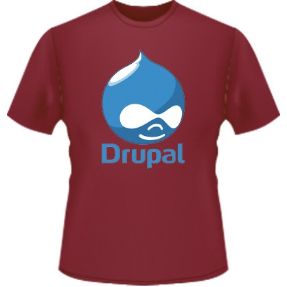 Drupal Logo T-Shirt (Red)