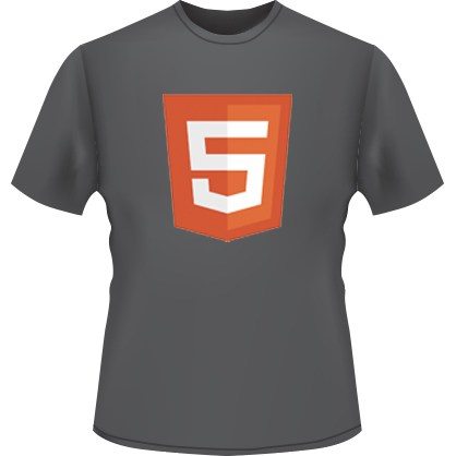HTML5 Icon T-Shirt (Black)