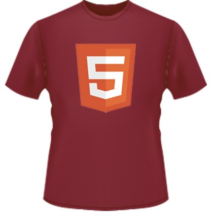 HTML5 Icon T-Shirt (Red)