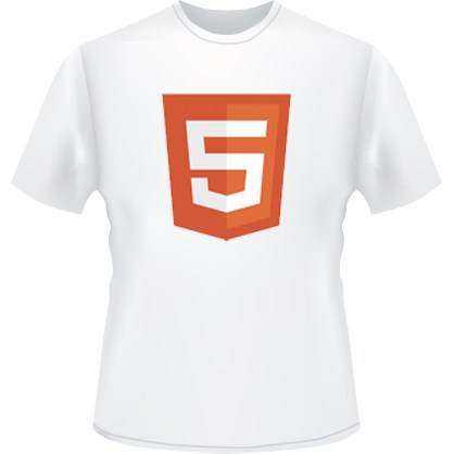 HTML5 Icon T-Shirt (White)