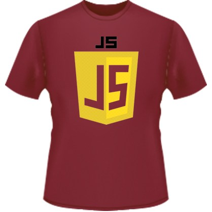 JavaScript Logo T-Shirt (Red)